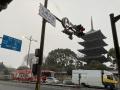 201231本降りの雪と東寺の五重塔
