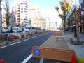 201230御堂筋の工事中自転車レーン
