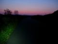 200429夜明けの河川敷を御幸橋へ