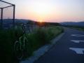 200429木津川右岸で日の出