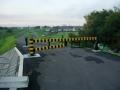 200829曽我川橋河合町側の堤防車止め