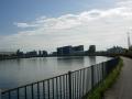 200919明るくなった朝の神崎川を戻る