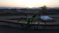 200425流れ橋付近で日の出