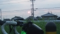 200822富雄川からの朝日