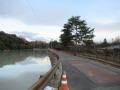 201219空自奈良基地とコナベ池の間を抜ける