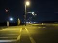 201231夜明け前の御幸橋を渡る