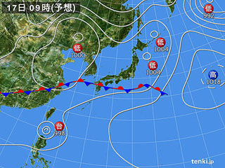 5月17日(日)9時の予想天気図