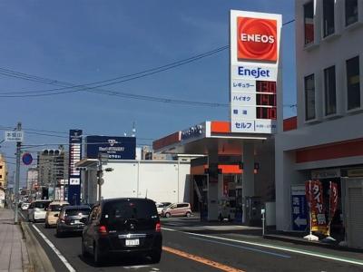 レギュラーガソリン130円/L 西近江路沿い大津市本堅田のセルフGSで(20/03/26)