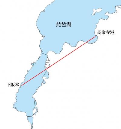 下阪本湖岸から長命寺港は絶対に見えない!!