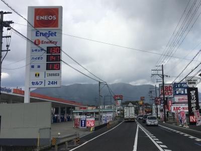 レギュラーガソリン130円/L ハイオク141円/L 西近江路沿い大津市真野のセルフGSで(20/04/23)