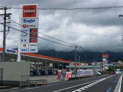 レギュラーガソリン123円/L ハイオク134円/L 西近江路沿い大津市真野のセルフGSで(20/05/21)