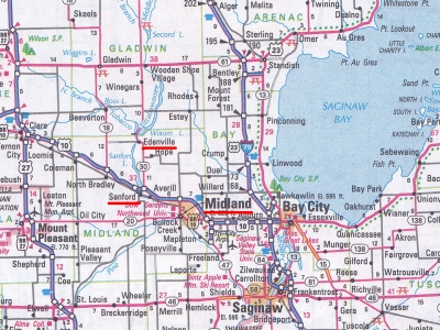 米ミシガン州ミッドランド周辺
