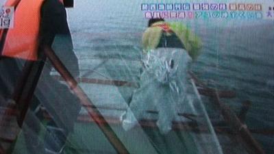 琵琶湖の沖すくい網漁