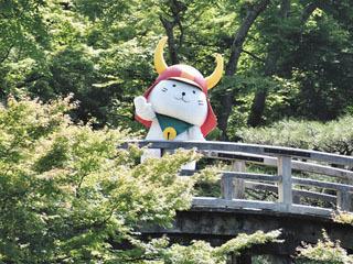 彦根城の玄宮園に再登場したひこにゃん