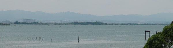 琵琶湖南湖赤野井〜下物沖(5月30日10時40分頃)