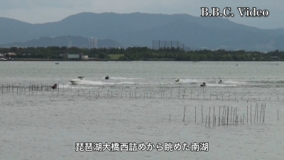 移動自粛要請が完全解除されて最初の週末の琵琶湖(YouTubeムービー)