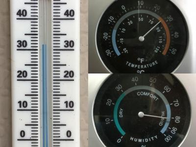 堅田の気温と湿度(6月26日12時)