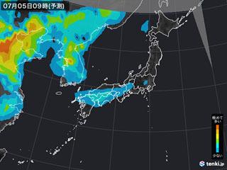 PM25分布予測(7月5日9時)