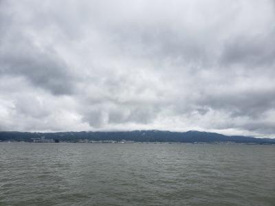 矢橋人工島から眺めた琵琶湖南湖
