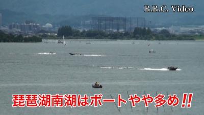 山の日の琵琶湖!! 南湖はボートやや多め(YouTubeムービー)
