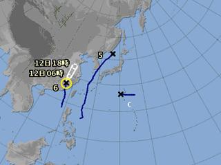 台風情報(8月11日18時)