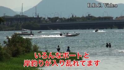 盆休み最終日の琵琶湖(YouTubeムービー)