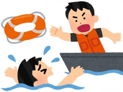 落水事故(いらすとや)