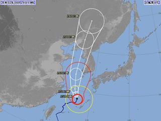 台風8号進路図(8月24日18時)