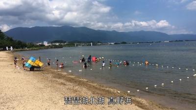 平日はガラ空きの真野浜水泳場!! 夏の終わりが近いですね(YouTubeムービー)
