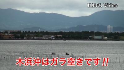 台風10号接近中の琵琶湖!! 木浜沖はガラ空きです(YouTubeムービー)
