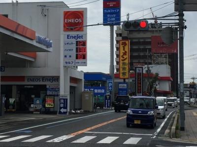 レギュラーガソリン127円/L ハイオク138円/L 西大味時沿い大津市本堅田のセルフGSで(20/09/10)