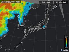 PM2.5分布予測(9月27日9時)