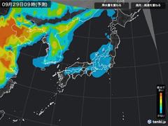 PM2.5分布予測(9月29日9時)