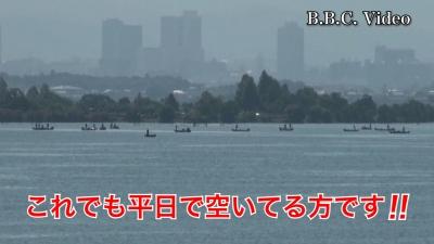 快晴微風の琵琶湖!! 木浜沖の船団は程々です(YouTubeムービー)