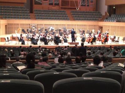 プレコンサート オーケストラの配置は普通です