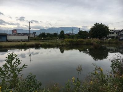カヤ池から眺めた比良山(10月19日13時頃)