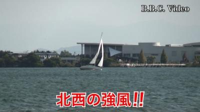 琵琶湖は北西の強風!! 岸もボートも空いてます NEWハンディカムテスト(YouTubeムービー)