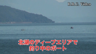 穏やかな土曜日の琵琶湖!! 南湖も北湖もボートがいっぱい(YouTubeムービー)