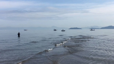 日曜日の琵琶湖北湖 和邇川河口(YouTubeムービー)