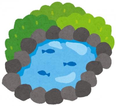 池のイラスト(いらすとや)
