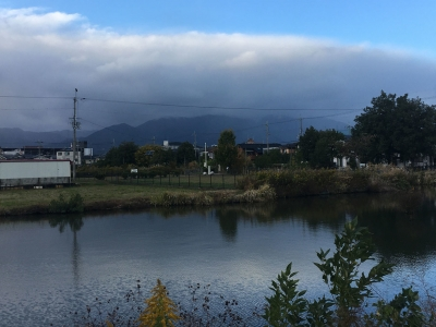 カヤ池から眺めた比良山(11月9日16時頃)