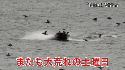 またも大荒れの土曜日 ボート走行編 #今日の琵琶湖(YouTubeムービー)