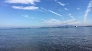 真野浜から眺めた北湖 iPhone6sで撮影