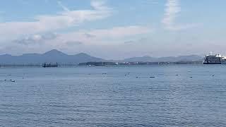 真野浜から眺めた北湖 iPhoneSE2で撮影