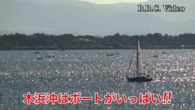 穏やかないい天気の土曜日!! 湖上は賑やか 米プラザはガラ空き #今日の琵琶湖(YouTubeムービー)