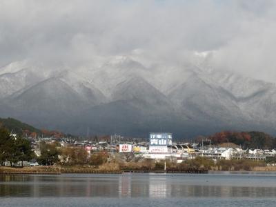 雪景色の比良山(12月17日9時30分頃)