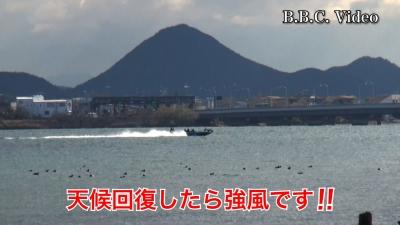 天候回復したら強風!! 真野浜から眺めた琵琶湖北湖 #今日の琵琶湖(YouTubeムービー)