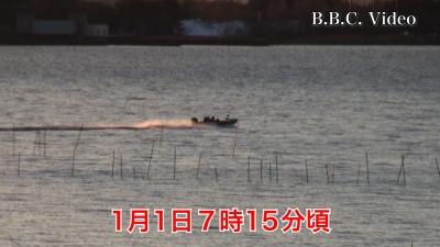 初日の出を見ながら爆走するバスボート #今日の琵琶湖(YouTubeムービー)