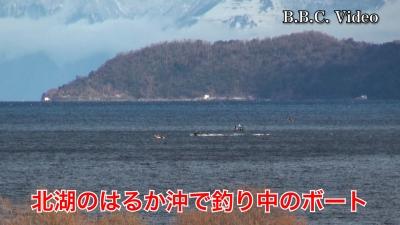 雨が上がって風が吹き始めた琵琶湖!! ボートはパラパラ #今日の琵琶湖(YouTubeムービー)