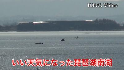 雨が止んでいい天気になった琵琶湖!! 南湖も北湖もボートはパラパラ #今日の琵琶湖(YouTubeムービー)